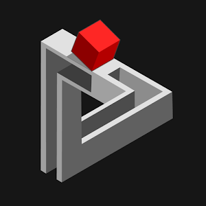 perspective illusion puzzle based on M.C. Escher drawings and impossible shapes APK Icon