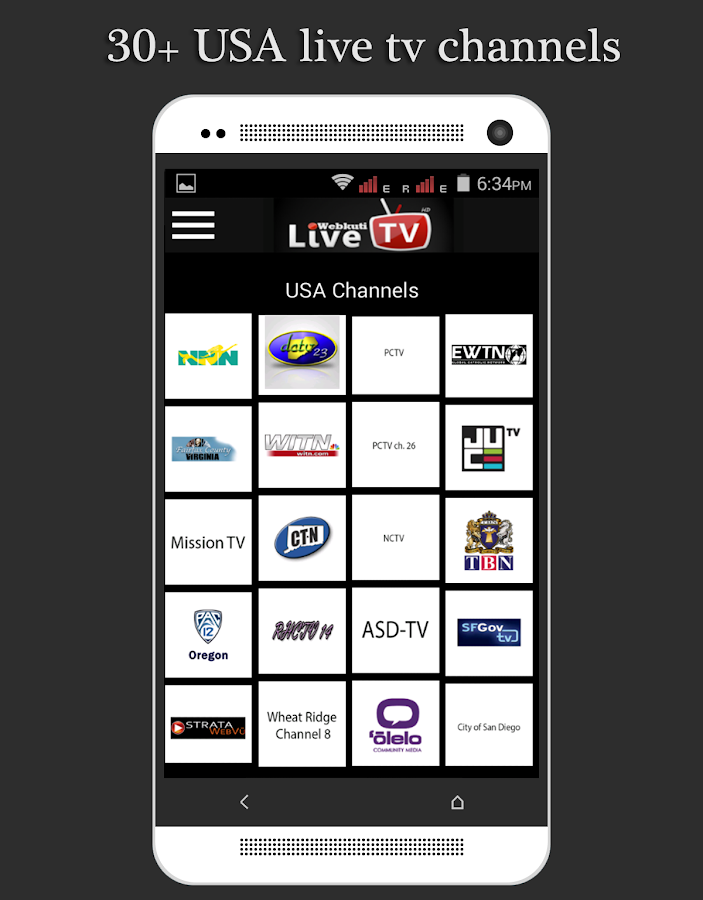 Live TV: Mobile TV, Movie & TV Screenshot 2