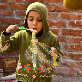 Bubble Boy by Vineet Singh - Babies & Children Children Candids