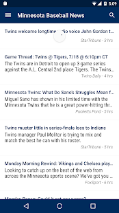 Minnesota Baseball News - screenshot