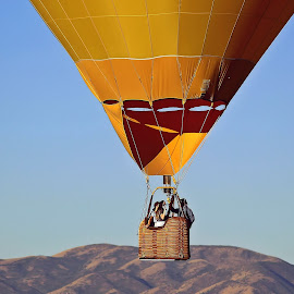 What a Ride by Tony Huffaker - Transportation Other ( hot air balloon, basket, launch, festival, view, people, rises )