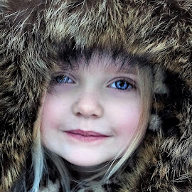 Blast of Winter Fur Baby by Cheryl Korotky - Babies & Children Child Portraits