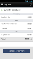 Screenshot of Central Bank Mobile Banking