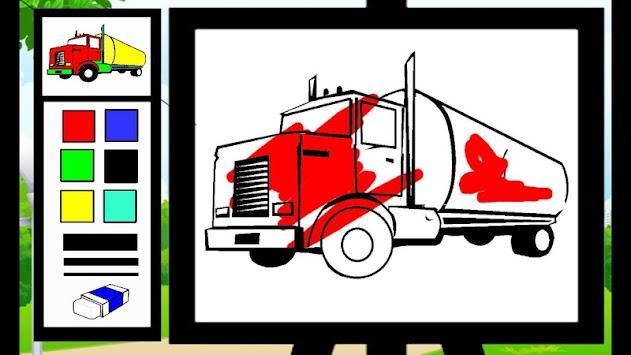 coloring truck apk screenshot