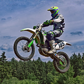 Free Like A Bird ! by Marco Bertamé - Sports & Fitness Motorsports ( flying, motocross, 185, one hundred eighty-five, number, race, jump, competition )