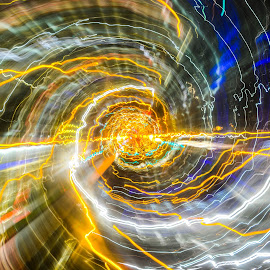 Time Travel by Cory Bohnenkamp - Abstract Light Painting ( abstract, time, long exposure, travel, transit, city )
