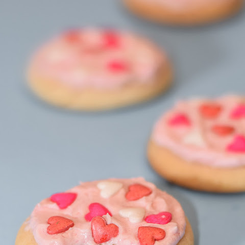 Valentine's Day White Cake Mix Cookies