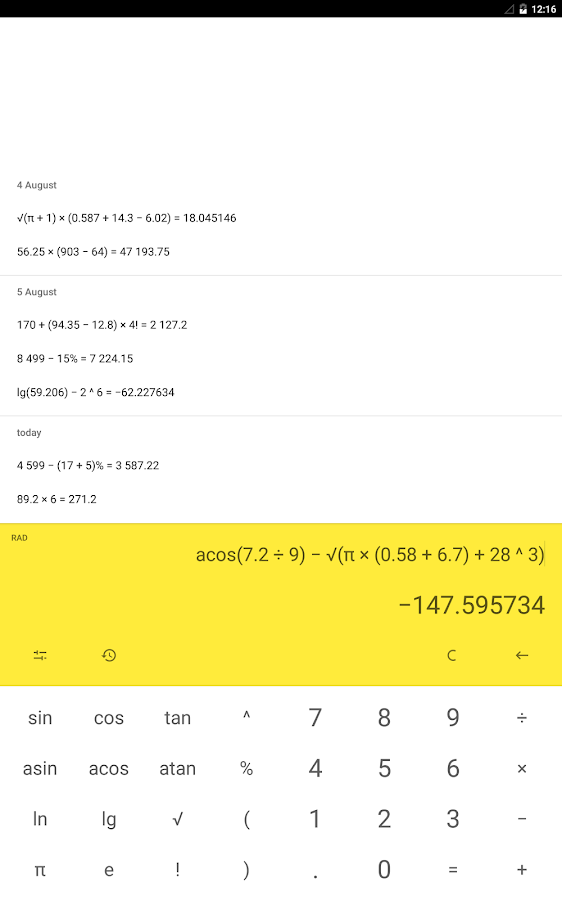 Calculator (no ads) Screenshot 9