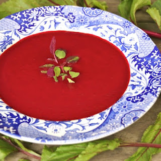 Garlic-Tarragon Beet Soup