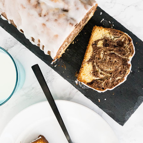 Marbled Orange Pound Cake
