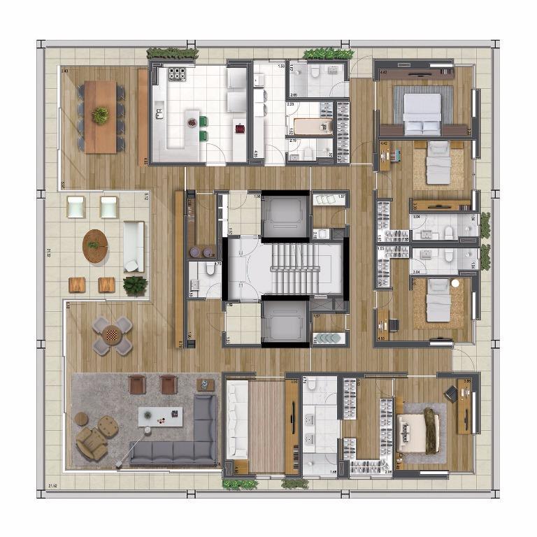 Planta Tipo - 430 m²