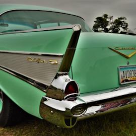 Aqua 57 by Benito Flores Jr - Transportation Automobiles ( chevy, aqua, chevrolet, car show, 1957 )