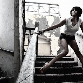 Runaway by Rendy Yuninta - People Fashion ( fashion, ql, woman, bw, photo )