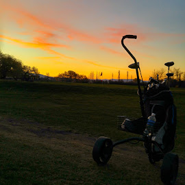 Great sunset at the Ellensburg GC by Chad Fuller - Sports & Fitness Golf ( golf course, sunsets, pacific northwest )