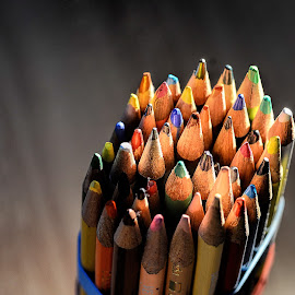 Let it Out by Jerry Kambeitz - Artistic Objects Other Objects ( expression, personal, art, pencils, colours )