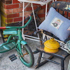 Antique Tricycle  by Lorraine D.  Heaney - Artistic Objects Toys