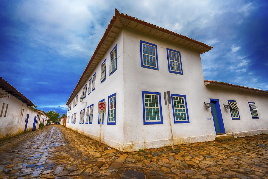 Historical Old Town of Paraty by Pravine Chester - City,  Street & Park  Historic Districts ( brazil, paraty, portugese architecture, street, buildings, historci, architecture )