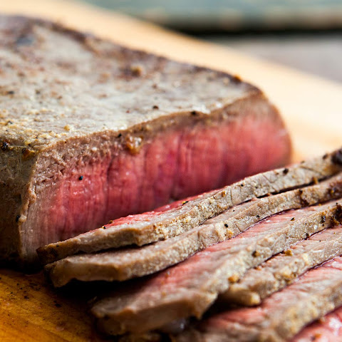 Pan-fried London Broil Steak