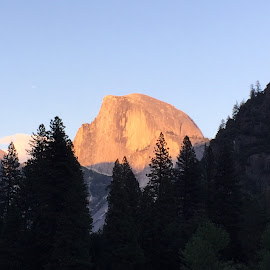 Sunset on Half Dome by Mary Malinconico - Instagram & Mobile iPhone ( half dome, yosemite )