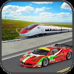 Train vs Car : Super Racing Icon