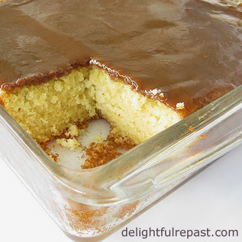 Grandma's Little Yellow Cake with Caramel Icing