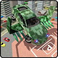 Army Flying Car Parking 3D