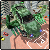 Army Flying Car Parking 3D APK Descargar