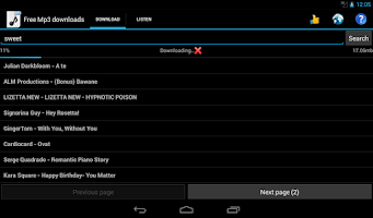 Screenshot of Free Mp3 Downloads
