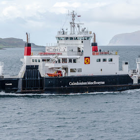 Coruisk by Alistair Forrest - Transportation Boats ( isle of mull, ferry, caledonian mac brayne, ship, scotland )
