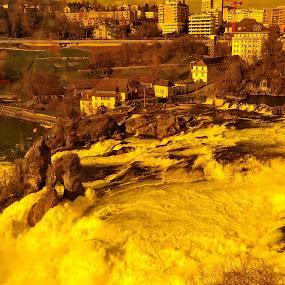 Waterfall by Radisa Miljkovic - Abstract Light Painting