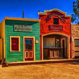 Tombstone Theatre Set by Dave Walters - Digital Art Places ( fantasy, h d r., tombstone, arizona, old west,  )