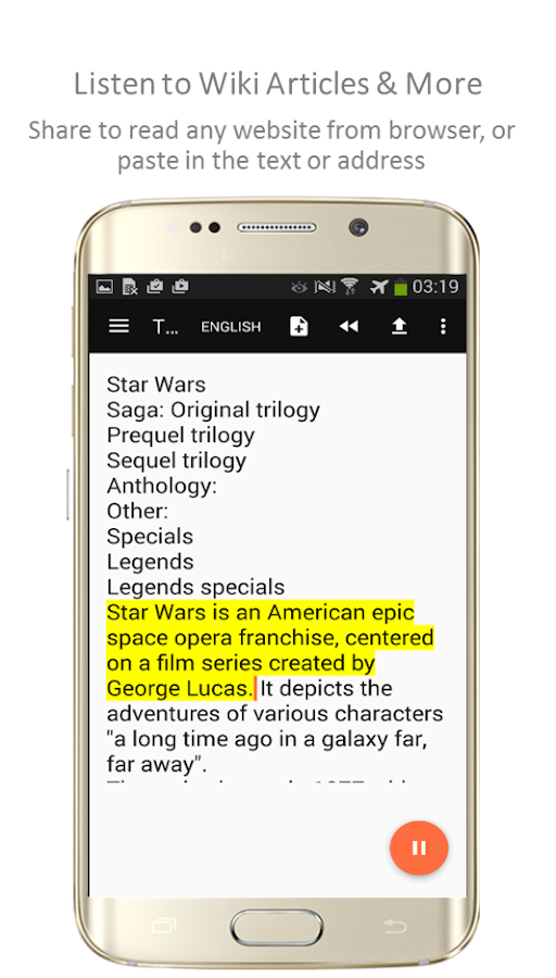 TTSReader Pro - Text To Speech Screenshot 5