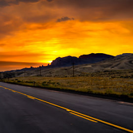 Down the Road by Darren Sutherland - Landscapes Sunsets & Sunrises ( trip 2013, trip )