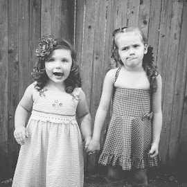 Silly Bffs by Jenny Hammer - Babies & Children Children Candids ( girls, best friends, silly faces, bffs, kids, cute )
