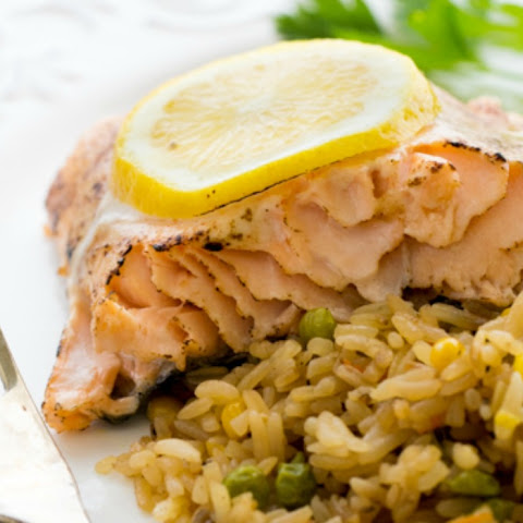 Baked Salmon with Tangy Glaze