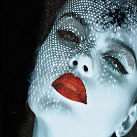 Good night. Sleep well. by Marcel Cintalan - Nudes & Boudoir Boudoir ( face, kiss, red, woman, lips )