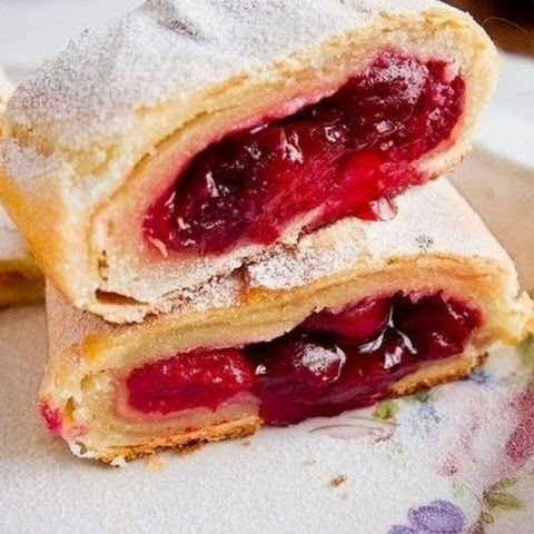 Austrian Strudel With Cherries