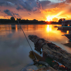 Sunset After The Rain by Kosmas Fikie Aryadi - Landscapes Waterscapes