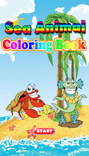 Sea Animal Coloring Book - screenshot