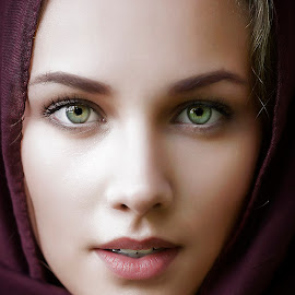 Merima by Samir Zahirovic - People Portraits of Women ( #portrait, #beauty, #glamour, #woman, #face, #scarf, #girl )