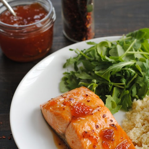 Roasted Salmon with Spicy Apricot Glaze