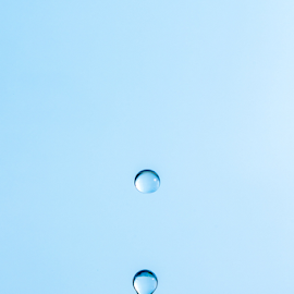 Water Drop by Xióng Xióng - Abstract Water Drops & Splashes ( water, life, waterdrop, blue, singledrop )