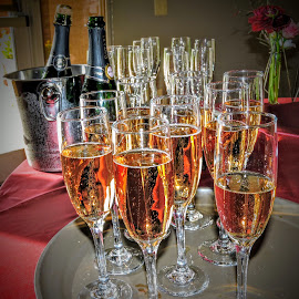 Celebrate  by Michael Pruitt - Wedding Reception ( wine, drinking, weddings, toast, party )
