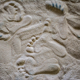 Footprints in the sand. by Joe Saladino - Abstract Patterns ( child, sand, footprints, pattern, toddler )