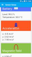 Screenshot of Sensor Sense