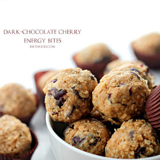 Dark Chocolate Cherry Energy Bites - No Bake