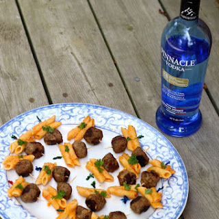 Penne alla Vodka & Meatball Bites with Pinnacle Vodka!