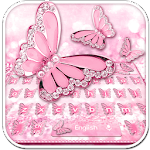Pink Diamond Butterfly Keyboard Icon