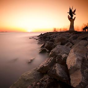 Kuşadası - Turkey by Ömür Kahveci - Landscapes Waterscapes ( kuşadası, fineart, turkey, seascape, longexposure )