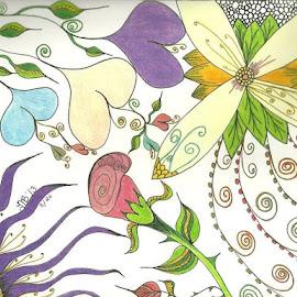 Hearts a Bloom by Tonya Barton - Drawing All Drawing